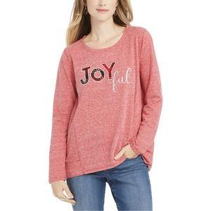 Style & Co Blouse Joyful Pink Heather 3X New